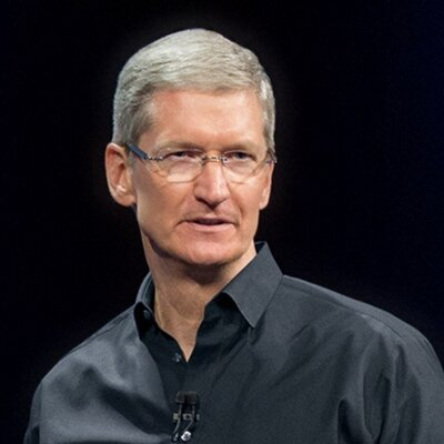 Tim Cook after the store manager's...