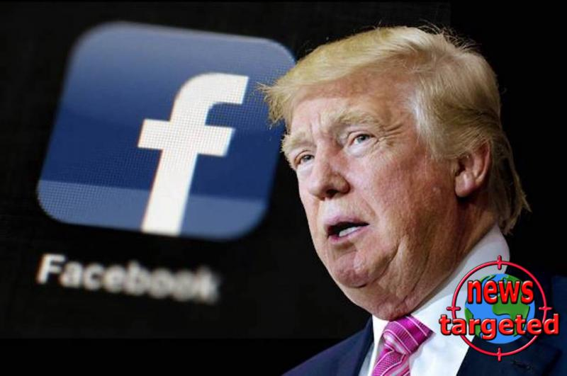 Trump goes after Facebook