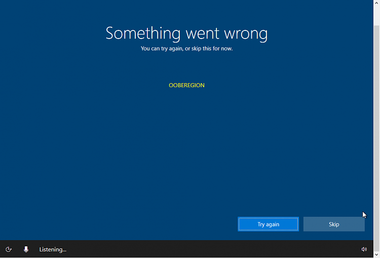 Are you also getting this error message in...