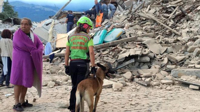 Earthquake leaves at least six dead...