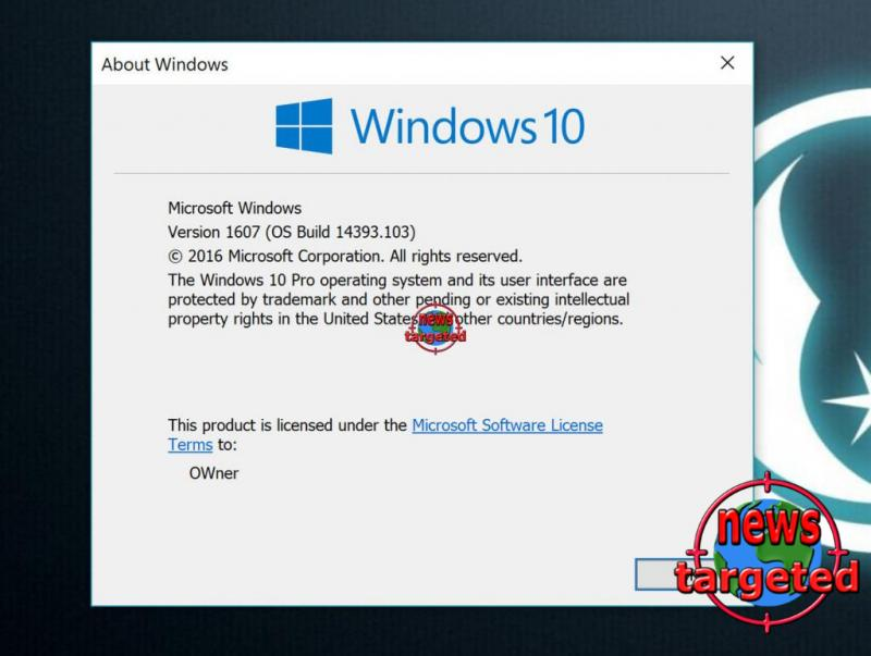 Windows 10 build 14393.103 is live for Release...