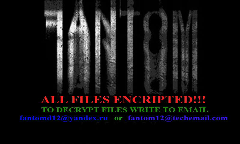 Fantom Ransomware Encrypts your Files...