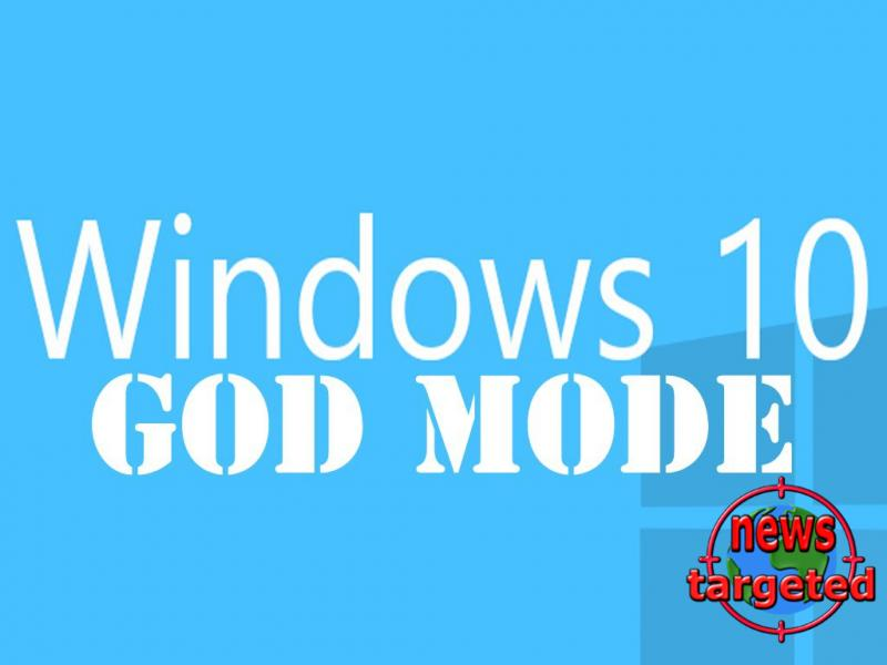 How to enable God mode in windows 10
