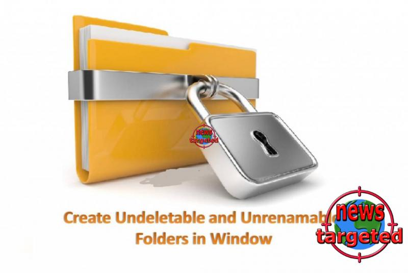 How To Create Undeletable Folder In...
