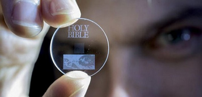 Tiny 5D data storage disc can store...