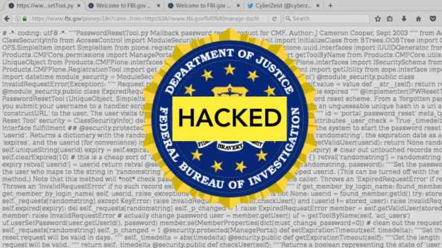 """FBI Hacked — Hacker Blames """"Lazy"""" Security and..."""