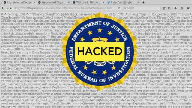 """FBI Hacked — Hacker Blames """"Lazy""""..."""