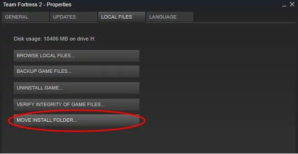 Steam allows you to finally move on game folders