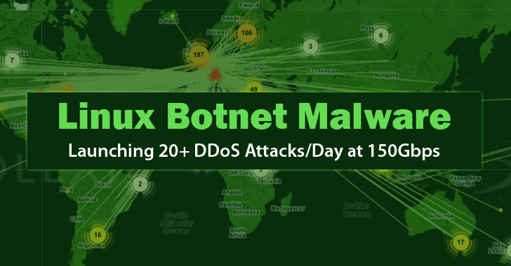 Linux botnet can hit with 150Gbps...
