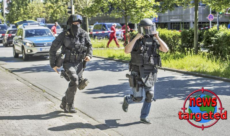 Armed man barricaded himself in...