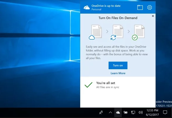 Such is OneDrive Files on Demand in...