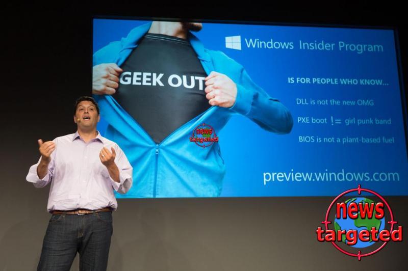 Latest insider version of Windows 10...