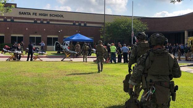 Santa Fe High School: Up to 10 dead...
