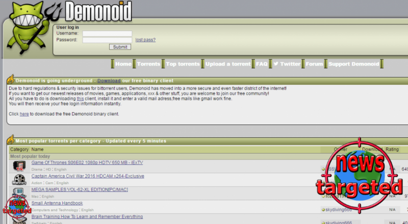 Suddenly the Demonoid disappeared again